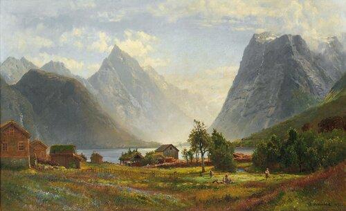 Fra Sæbø i Hjørundfjorden 1883