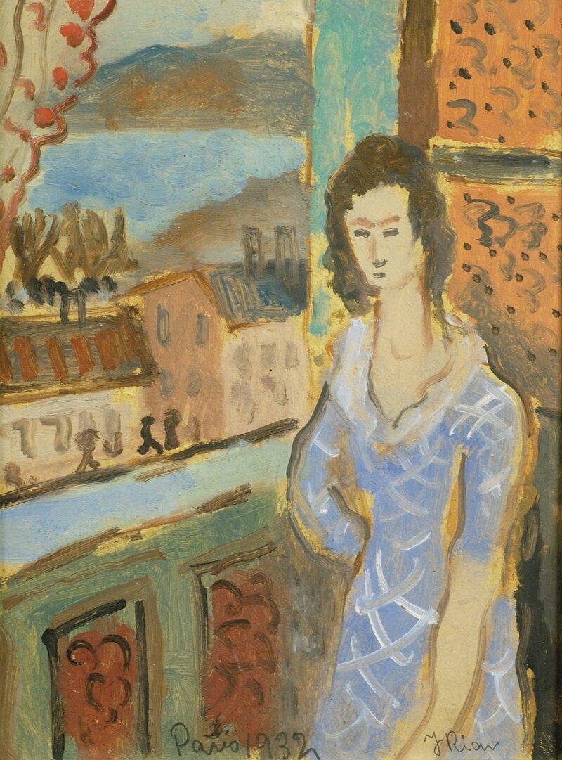 Kvinne ved vindu Paris 1932