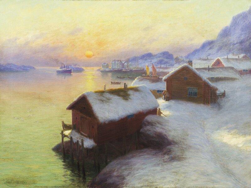 Fiskevær i Lofoten 1906