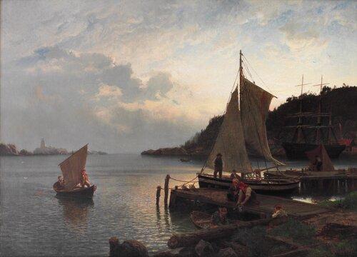 Morgenstemning i en norsk havn 1871