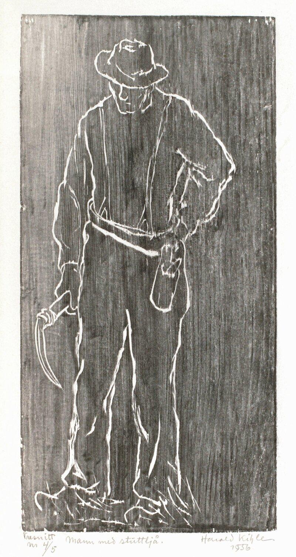 Mann med stuttljå 1956