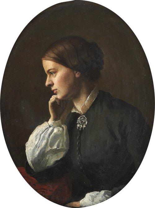 Portrett av Betsy Gude 1854