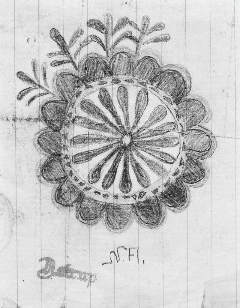 Stilisert blomst