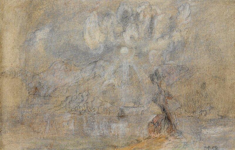 Landskap med sol og skyer 1858