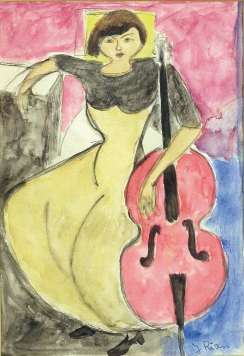 Kvinne med cello