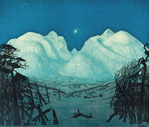 Winter Night in the Mountains of Rondane 1917