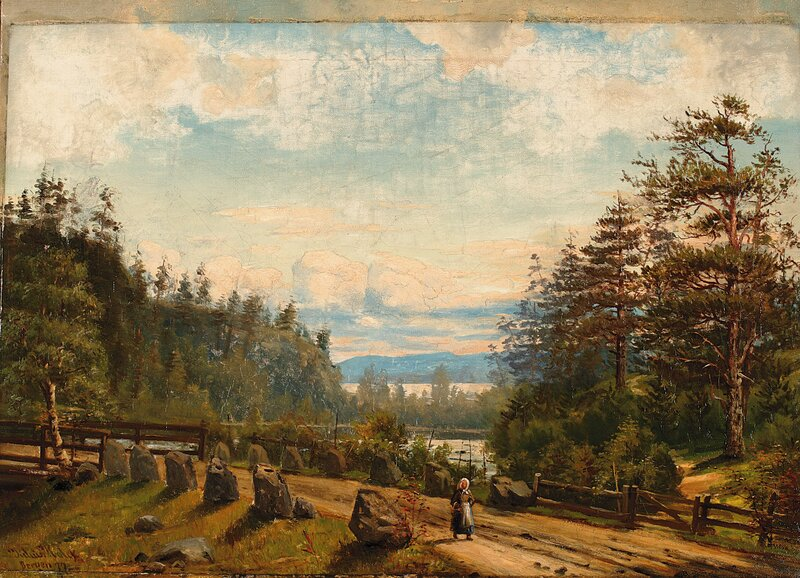Motiv fra Laurvigskanten 1877