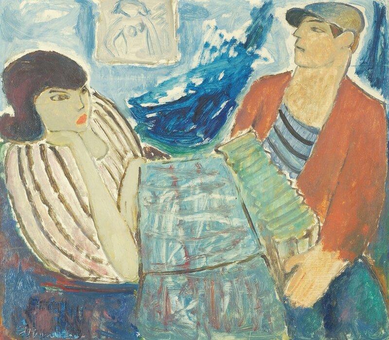 Kvinne og mann med trekkspill