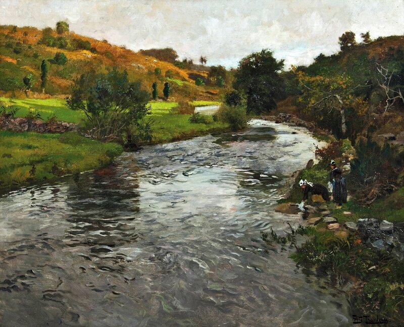 Vaskekoner ved elven Ellé, Quimperlé