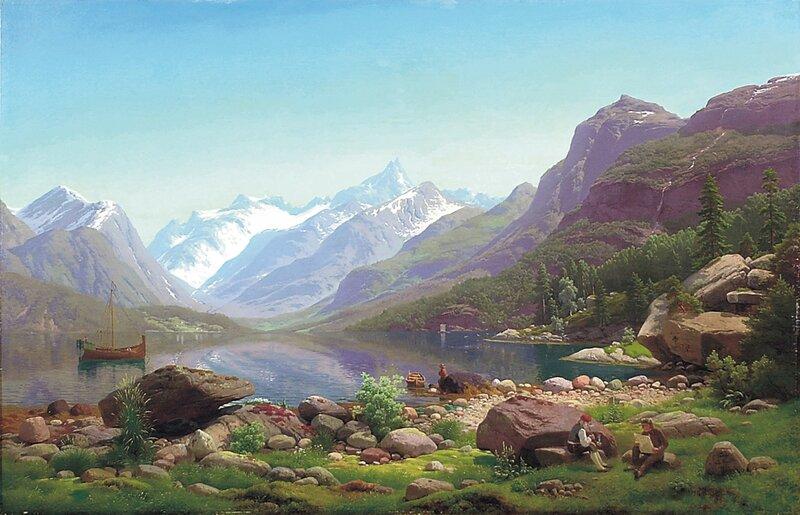 Norsk landskap 1855