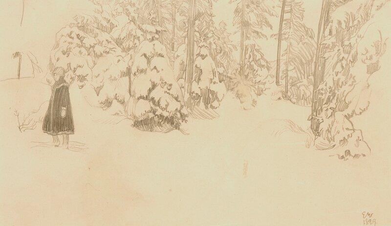 Pike i snetung skog 1899