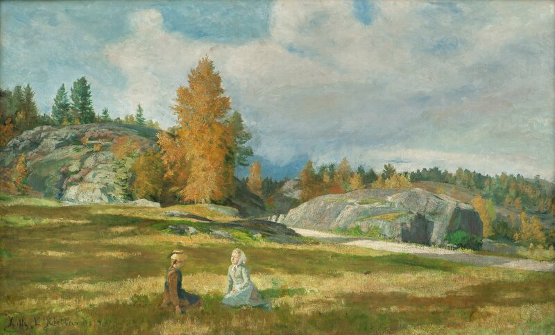 Two seated Girls on a Meadow