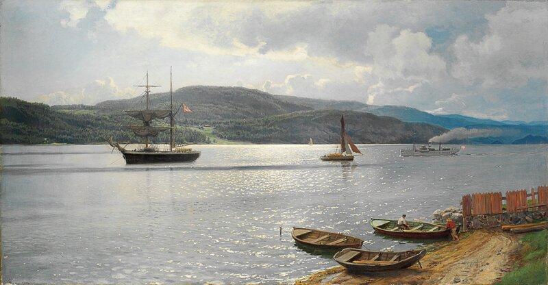 Fra Kristianiafjorden 1896
