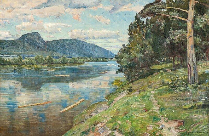 Elvelandskap, Østerdalen 1911