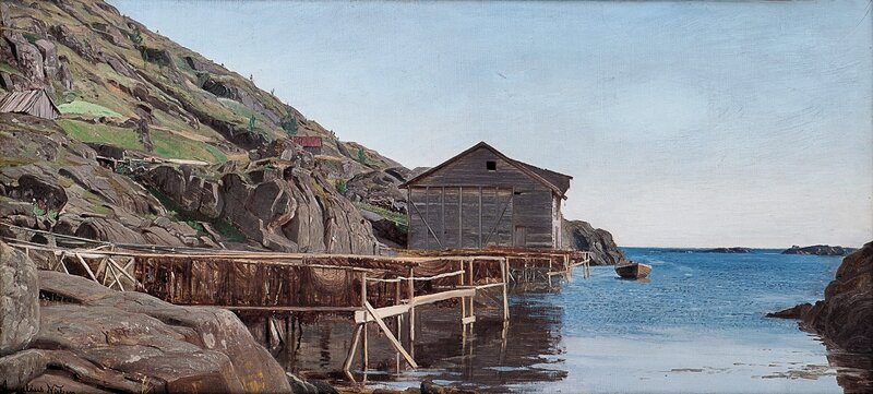 Garntørk i Rekefjorden 1885