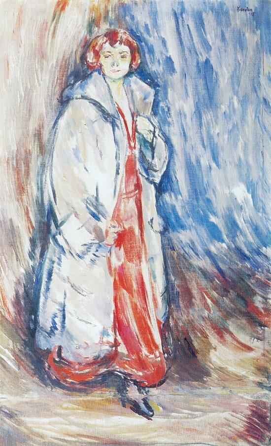 Portrett av fru Anker Kirkeby 1915
