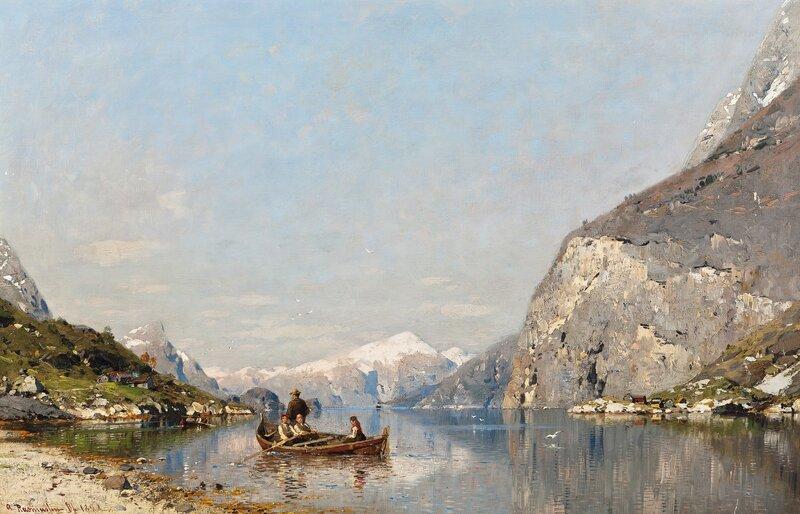 Vår i Sognefjorden 1890