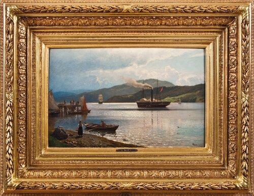 Hjuldamper ved Drøbak 1877
