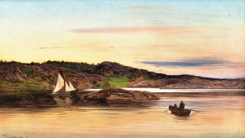 Fiskere i robåt 1903