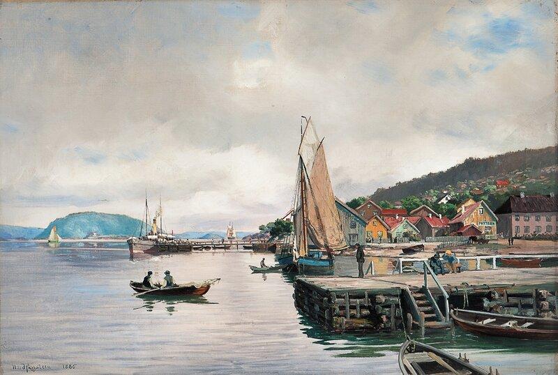 Fra Drøbak 1886