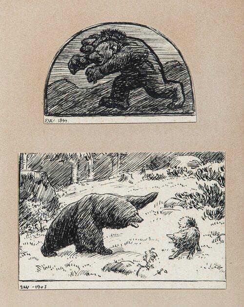 Trehodet troll og Slagbjørn