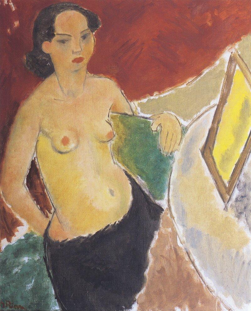 Kvinne ved speil