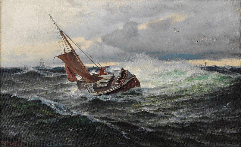 Losbåt i høy sjø
