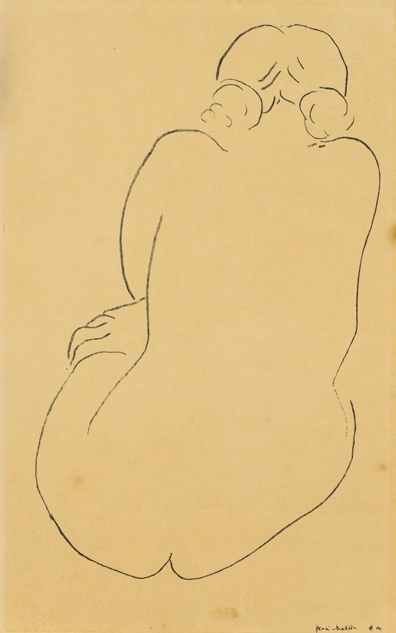 Seated Nude, seen from behind