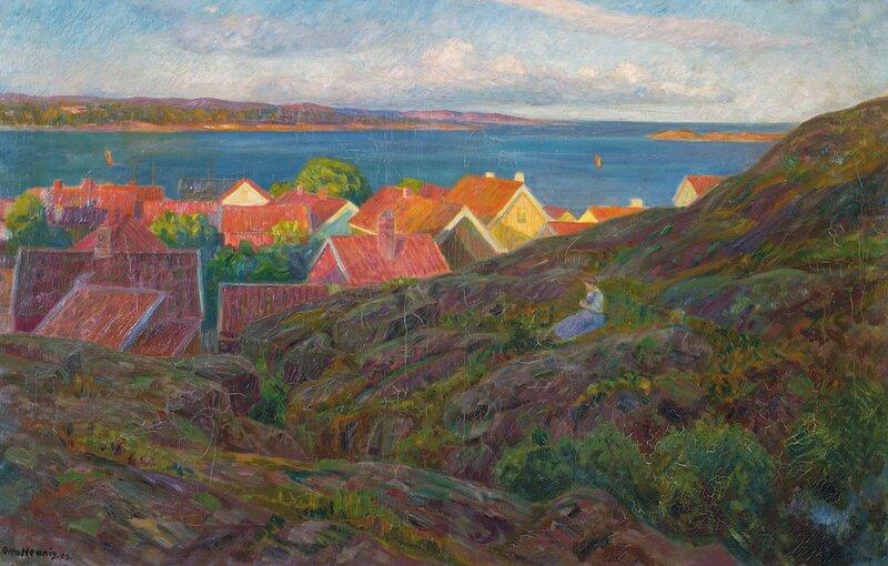 Fra Nevlunghavn, aftensol 1909