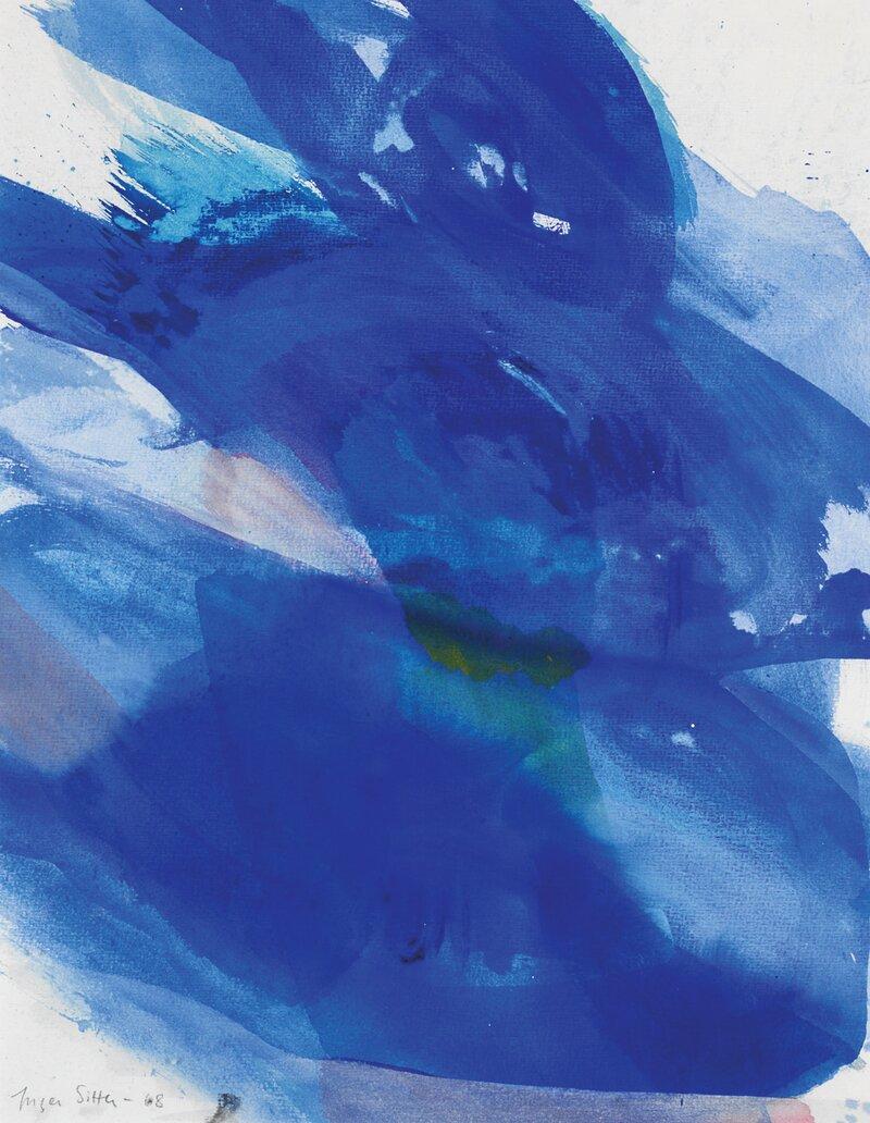 Blå komposisjon 1968