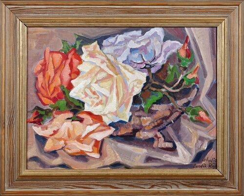 Oppstilling med roser, studie