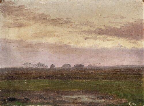 Landskap med hus 1872