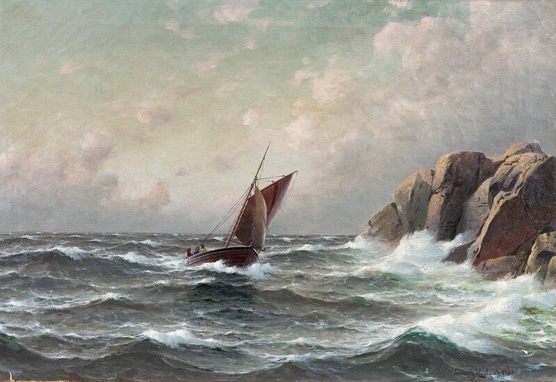 Losskøyte ved kysten 1901