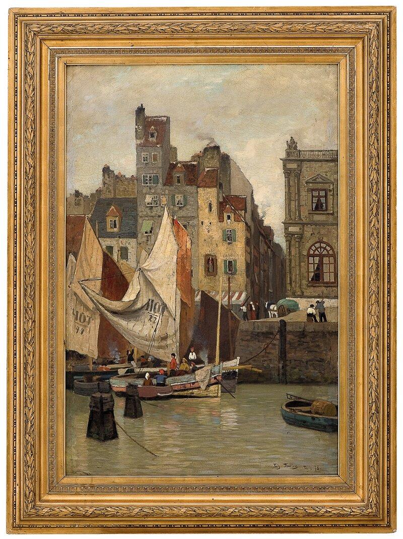 Høyvann, motiv fra Le Havre 1878