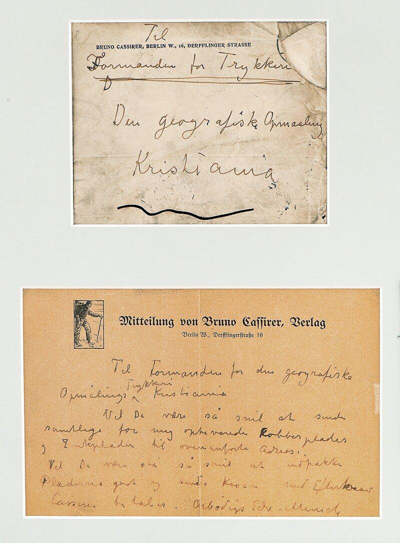 Letter from Edvard Munch 1905