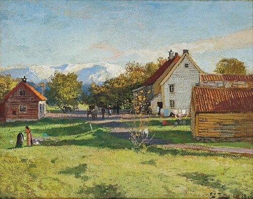 Fra Lervik på Stord 1888