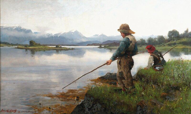 Fiskende gutter 1889