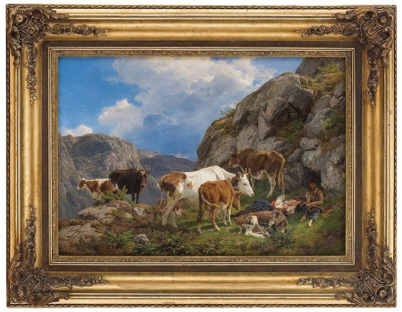 Middagshvile på fjellet 1859