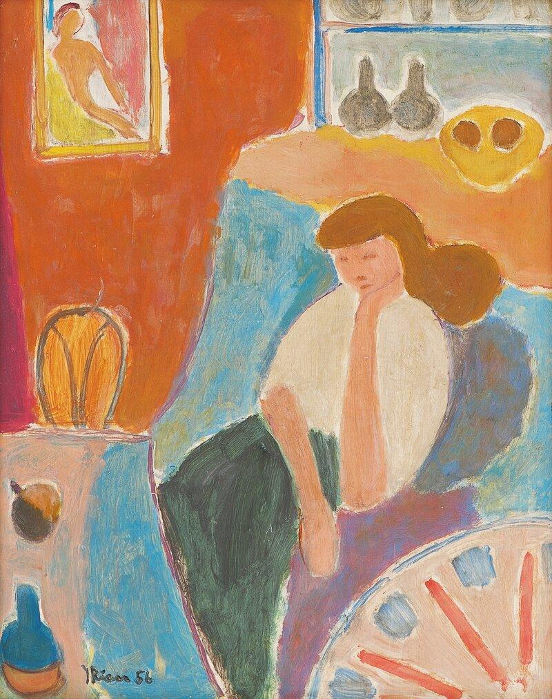 Kvinne i interiør 1956