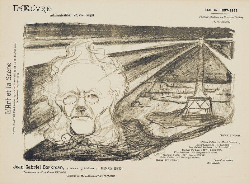 Teaterprogram: Jean Gabriel Borkman