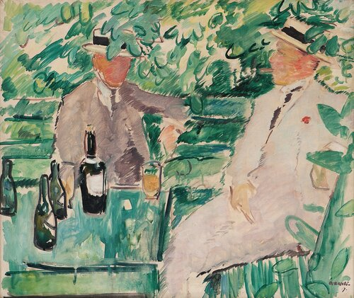 Two Men in a Garden 1919