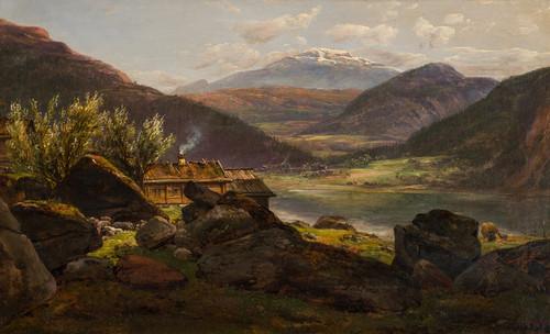 Gård ved Feigum i Lusterfjorden 1851