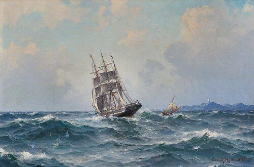 Sailing boat and pilot boat