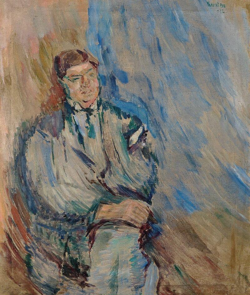 Portrett av Sven Elvestad 1916