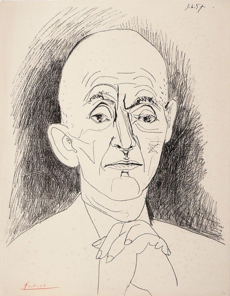Portrett av D. H. Kahnweiler, III 1957