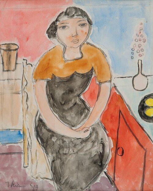 Sittende kvinne 1949