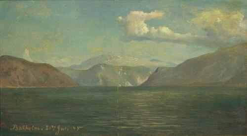Studie fra Balholm 1845