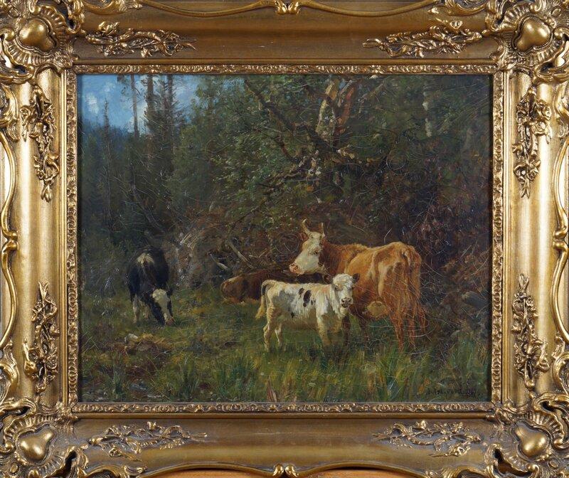 Ku med kalv 1879