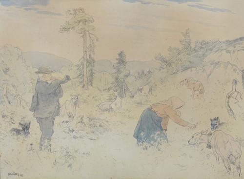 Gjetere i fjellet 1895