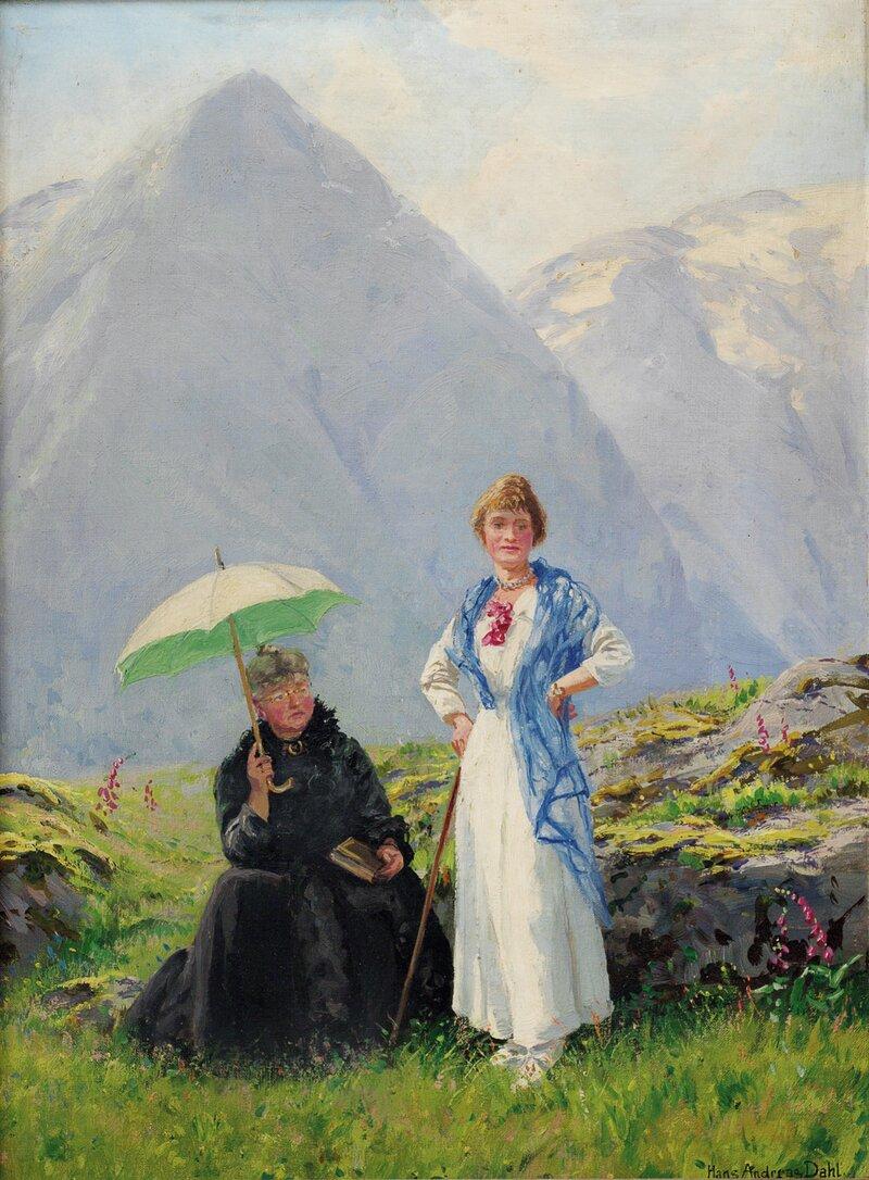 Landskap med to kvinner, Balestrand